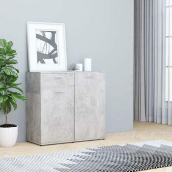 vidaXL Dressoir 80x36x75 cm spaanplaat betongrijs