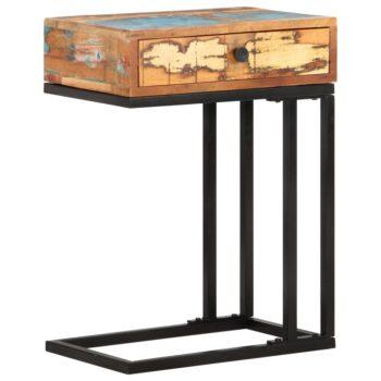 vidaXL Bijzettafel U-vormig 45x30x61 cm massief gerecycled hout