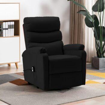 vidaXL Sta-op-stoel kunstleer zwart