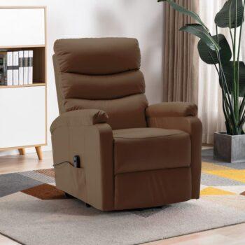 vidaXL Sta-op-stoel kunstleer bruin