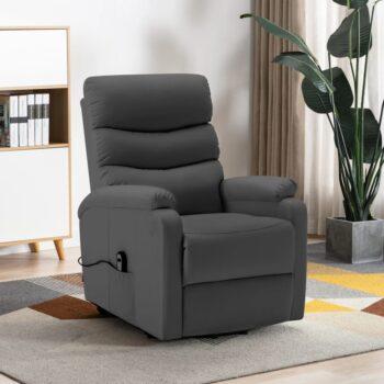 vidaXL Sta-op-stoel kunstleer antraciet