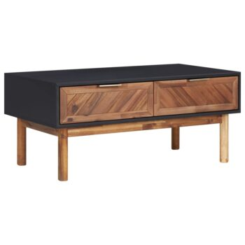 vidaXL Salontafel 90x50x40 cm massief acaciahout en MDF