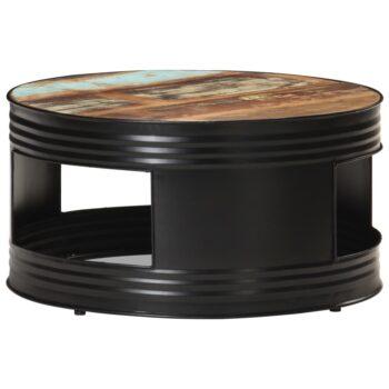 vidaXL Salontafel 68x68x36 cm massief gerecycled hout zwart