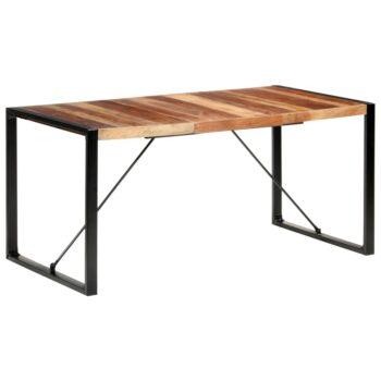 vidaXL Eettafel 160x80x75 cm massief hout met sheesham afwerking
