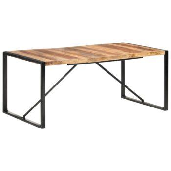 vidaXL Eettafel 180x90x75 cm massief hout met sheesham afwerking