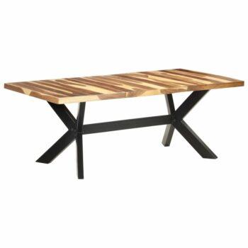 vidaXL Eettafel 200x100x75 cm massief hout met sheesham afwerking