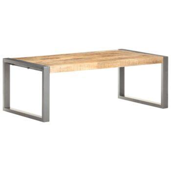 vidaXL Salontafel 110x60x40 cm massief hout met sheesham afwerking