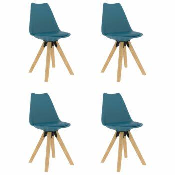 vidaXL Eetkamerstoelen 4 st turquoise