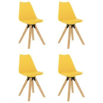 vidaXL Eetkamerstoelen 4 st geel