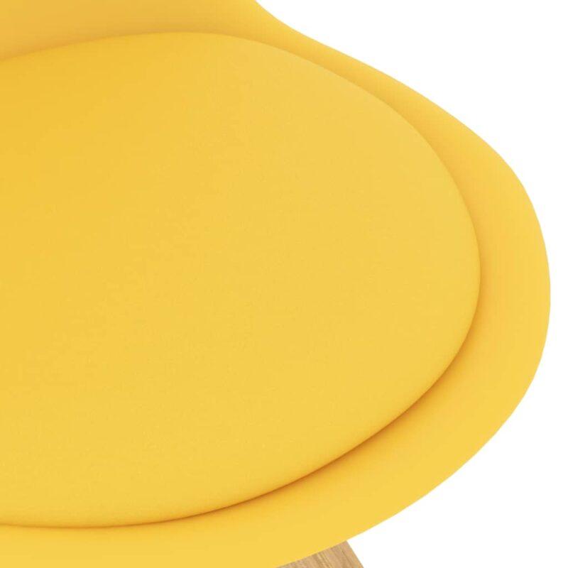 Eetkamerstoelen 4 st geel