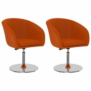 vidaXL Eetkamerstoelen 2 st kunstleer oranje