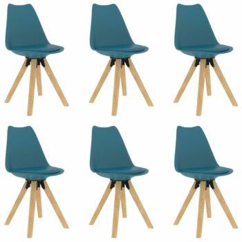 vidaXL Eetkamerstoelen 6 st turquoise