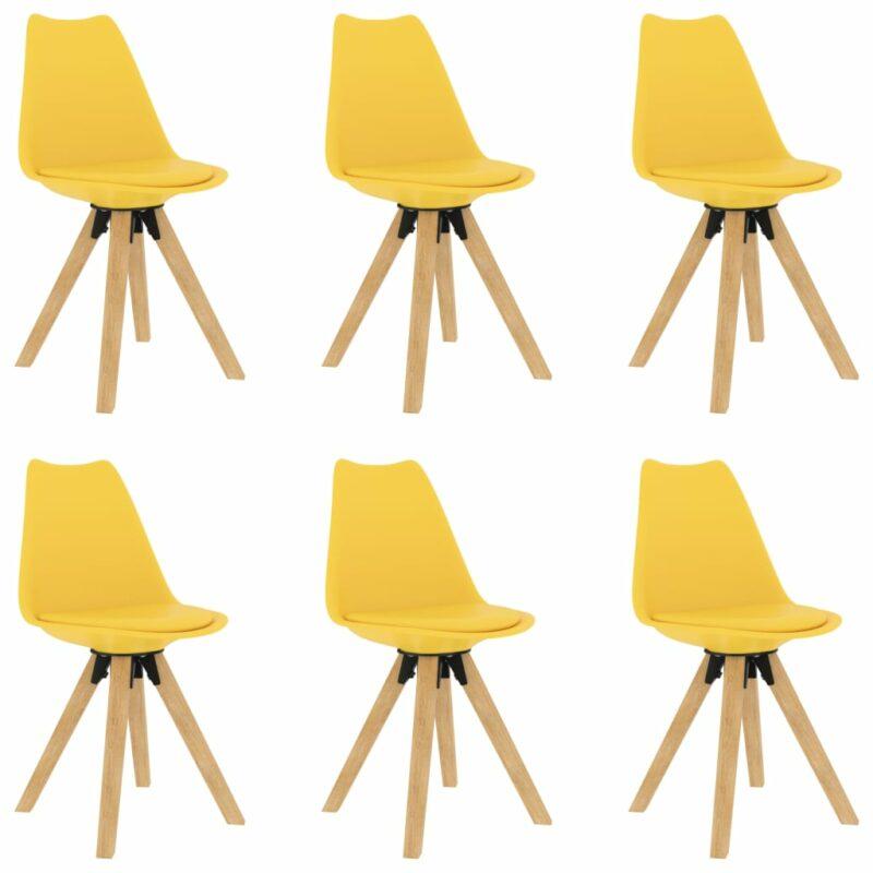 vidaXL Eetkamerstoelen 6 st geel