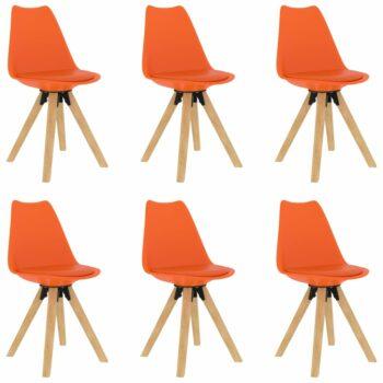 vidaXL Eetkamerstoelen 6 st oranje