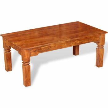vidaXL Salontafel 110x60x45 cm massief hout