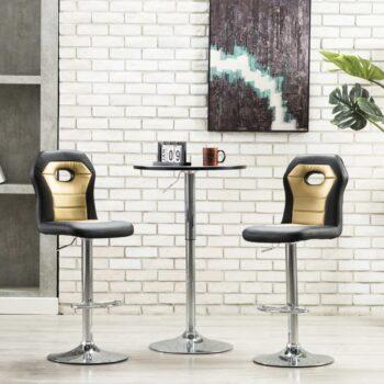 vidaXL Barstoelen 2 st kunstleer goudkleurig