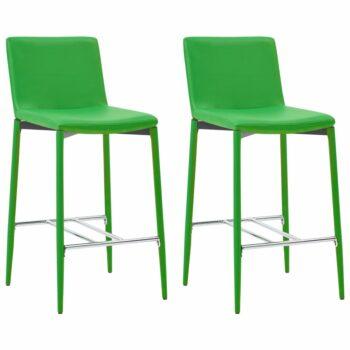 vidaXL Barstoelen 2 st kunstleer groen