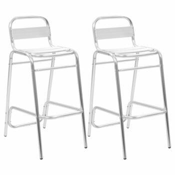 vidaXL Barstoelen stapelbaar 2 st aluminium