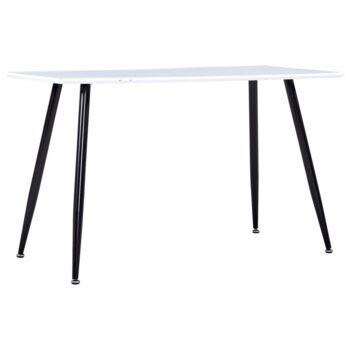 vidaXL Eettafel 120x60x74 cm MDF wit en zwart