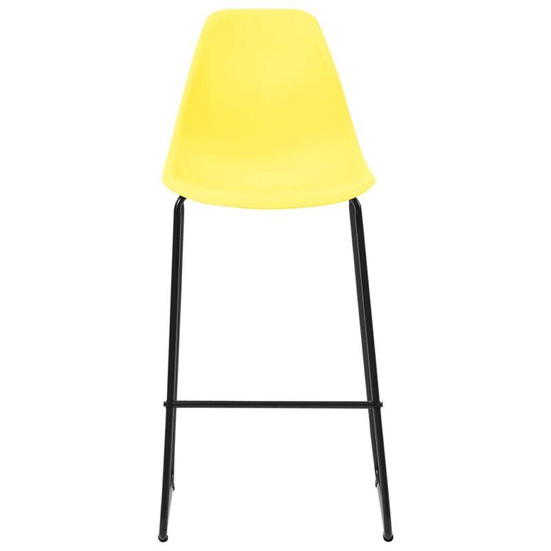 Barstoelen 6 st kunststof geel