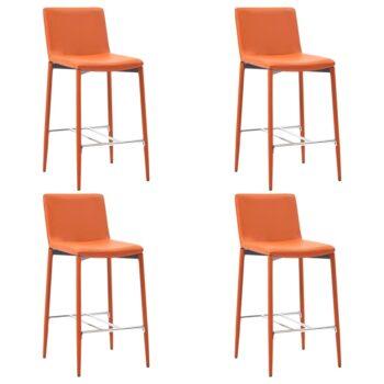 vidaXL Barstoelen 4 st kunstleer oranje