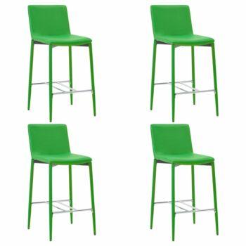 vidaXL Barstoelen 4 st kunstleer groen