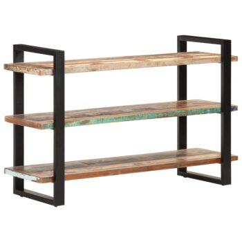 vidaXL Dressoir met 3 schappen 120x40x75 cm massief gerecycled hout