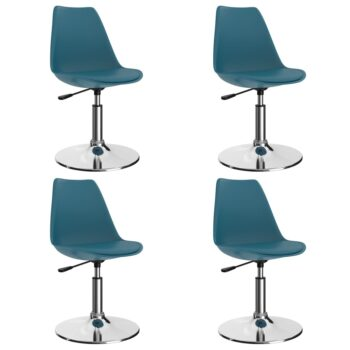 vidaXL Eetkamerstoelen draaibaar 4 st kunstleer turquoise